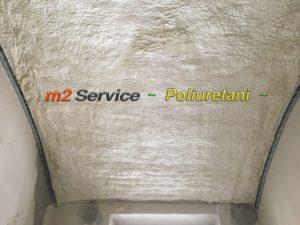 poliuretano applicazione a soffitto