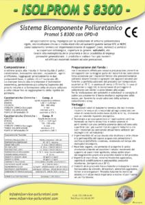 isolprom s 8300 densità 30-45 Kg/mc